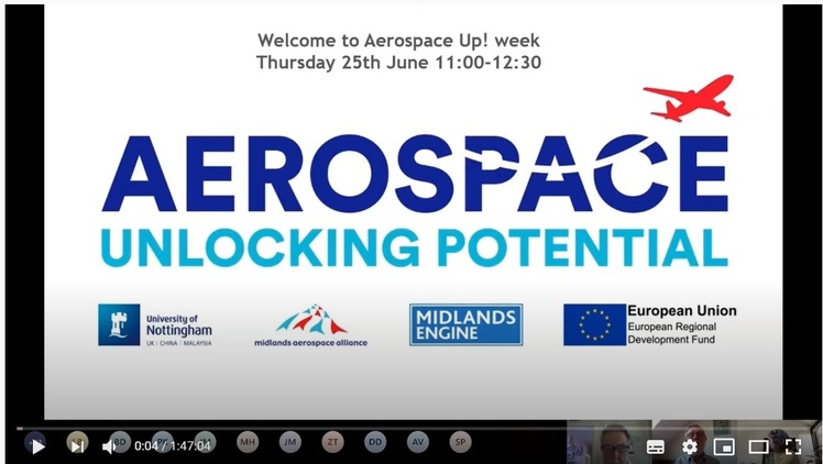 Watch and listen to Aerospace UP week