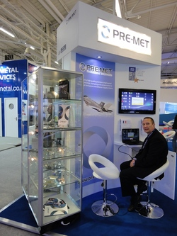 Start of the day   exhibitor pod on the MAA stand Paris 2013