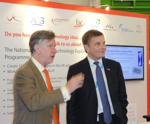 MAA CEO Andrew Mair and Secretary of State for Wales David Jones MP NATEP Paris 2013 b