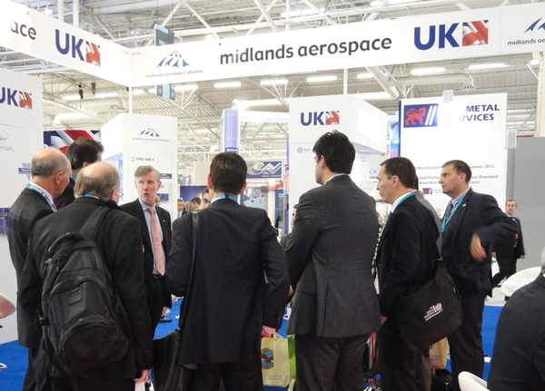 MAA CEO Andrew Mair welcomes ukti to maa stand paris 2013